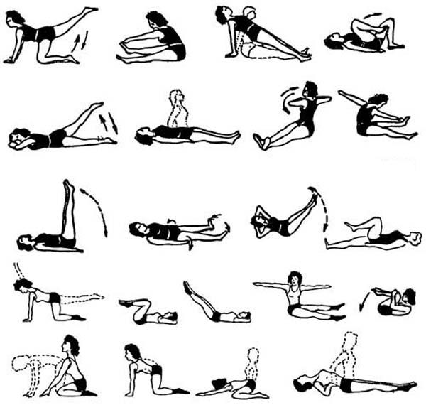 Примерный комплекс упражнений при опущении почек