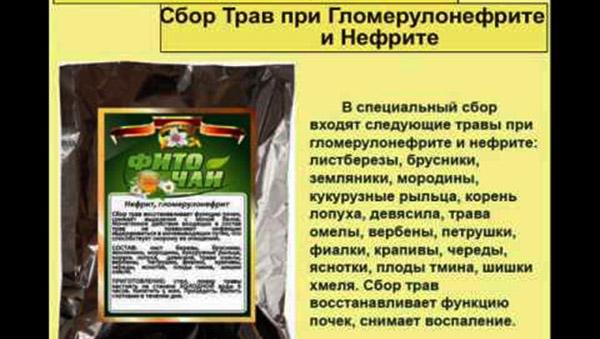 Травяной сбор от воспаления почечных клубочков