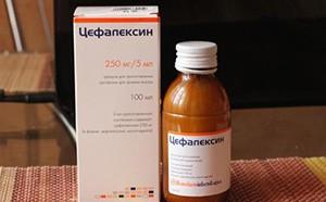 Цефалексин в виде суспензии
