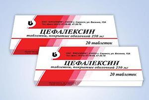 Цефалексин в таблетках