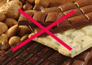 Шоколад и какао запрещены