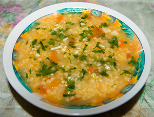 суп с пшеном